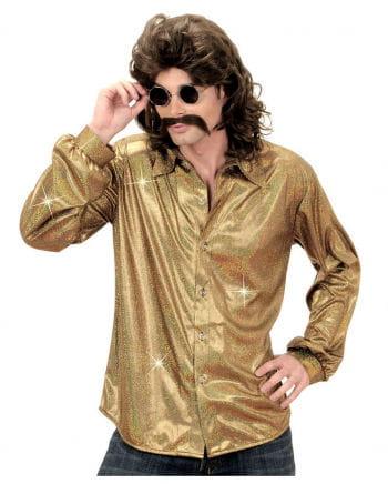 80s disco shirt gold
