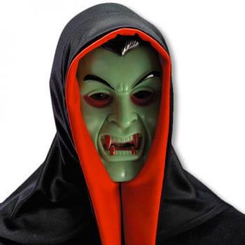 Dracula Maske mit Kapuze