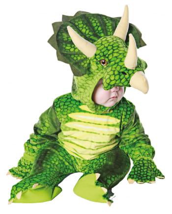 Dreihorn Dino Kleinkinderkostüm Grün