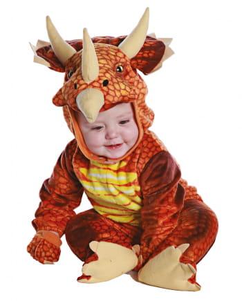 Dreihorn Dino Kleinkinderkostüm Rot