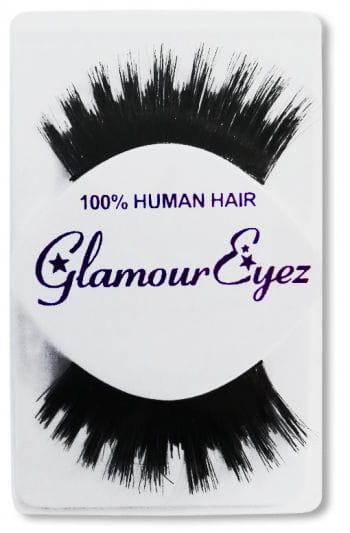 Real hair eyelashes black stepped close