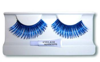 Real Hair Eyelashes Blue