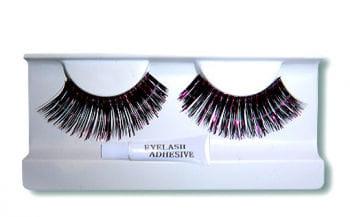 Real Hair Eyelashes Black/Pink