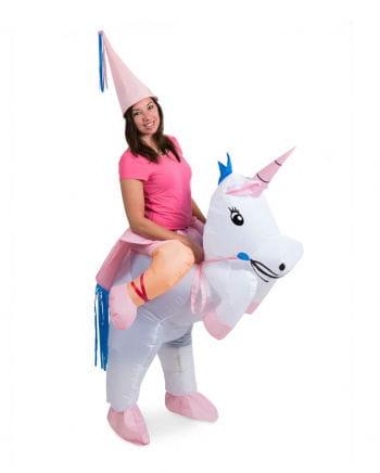 Einhorn Carry Me Kostüm aufblasbar