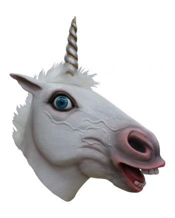 Einhorn Maske Weiß
