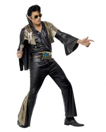 Elvis Kostüm Deluxe Schwarz/Gold