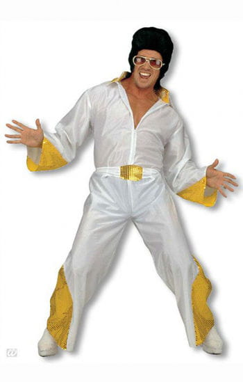 King of Rock costume with golden glitter L