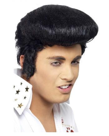 Elvis Perücke mit Koteletten Original