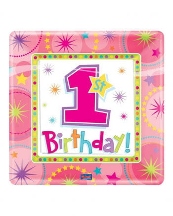 1. Geburtstags Teller