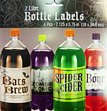 Etiketten für Flaschen 4er Set