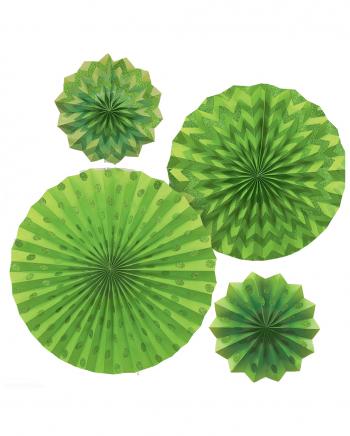 Fächer Deko Set Grün