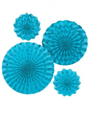 Fan Decoration Set Turquoise