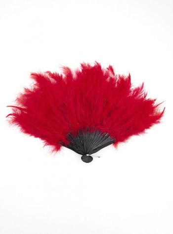 Feather fan red XXL