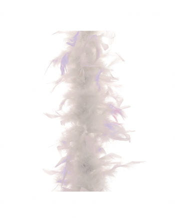 Feather Boa approx 185 cm white-lilac