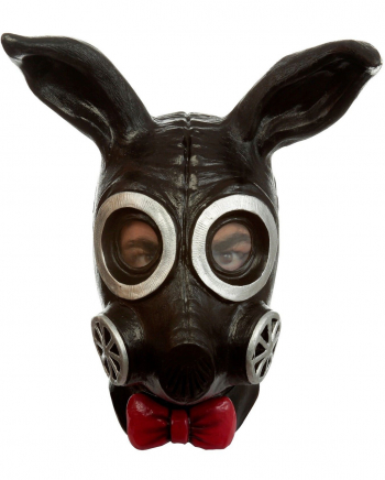 Fetisch Bunny Gas Maske schwarz