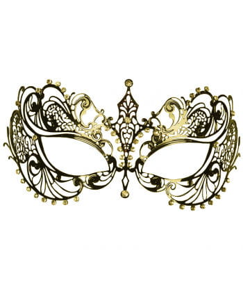 Filigrane Metall-Augenmaske mit Strass gold