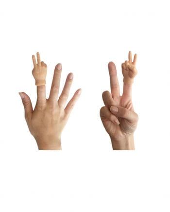 Fingerpuppe Hand Victory