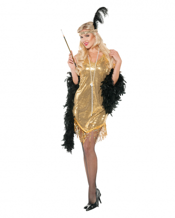 Flapper Sequin Dress Gold
