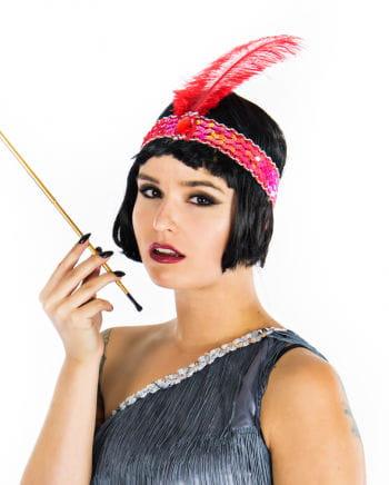 Flapper Headband Red