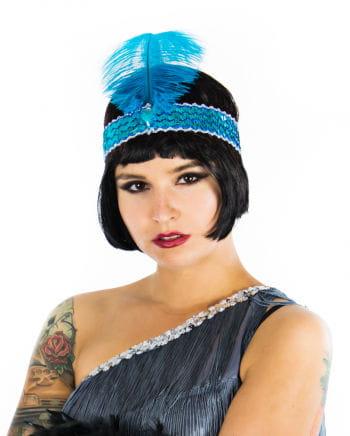 Flapper Headband Turquoise