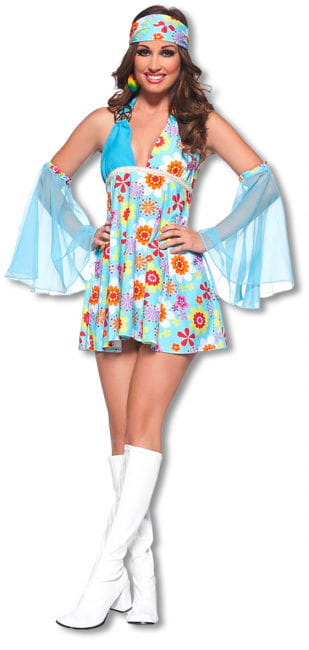 Flowerpower mini dress Extra Large