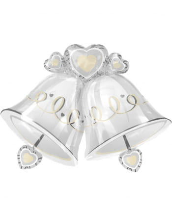 Foil Balloon Wedding Bells XXL