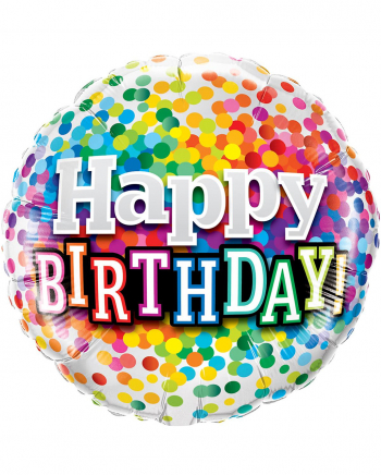 Foil Balloon Confetti Happy Birthday