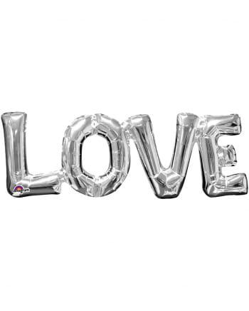 Folienballon Schriftzug Love silber