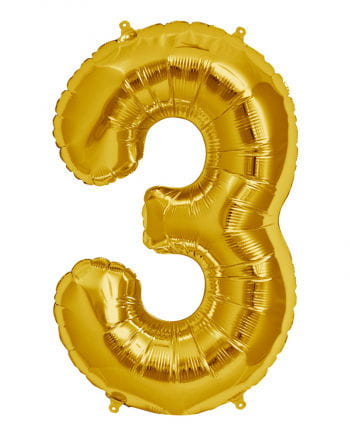 Gold Foil Balloon Number 3