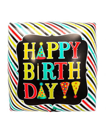 Folienballon Happy Birthday Würfel