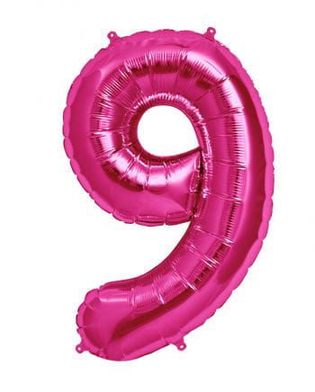 Foil Balloon Number 9 Pink