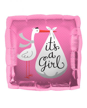 Foil Balloon Stork - It's a Girl -