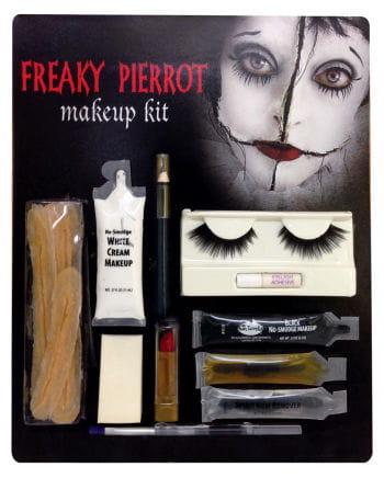 freaky pierrot make up set horror clown schminkset jetzt bestellen horror. Black Bedroom Furniture Sets. Home Design Ideas