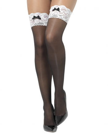 Fine stockings with white lace collar