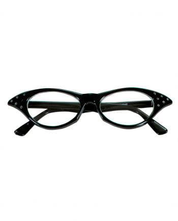 50er Jahre Brille mit Strasssteinen