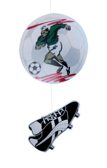 Dekohänger footballer and football shoe