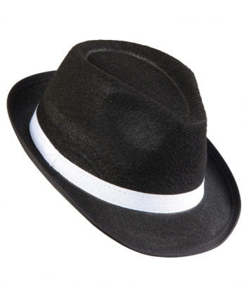 Gangster Hat With White Hat Band