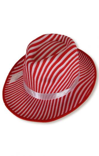 Gangster Hut weiß/rot