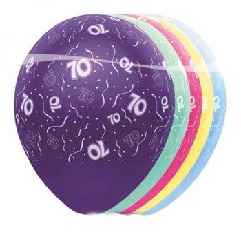 Geburtstag Ballons 70-Jubiläum 5 St.
