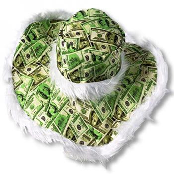 Geldschein Hut mit Dollarnoten