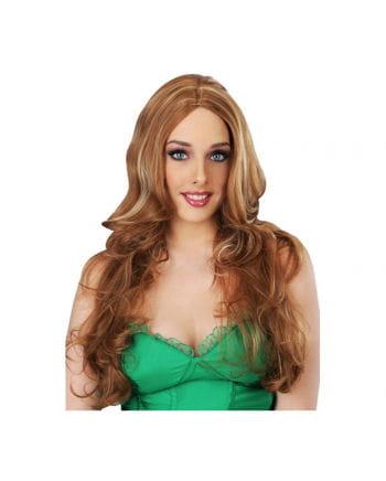 Streaked wig Light Brown