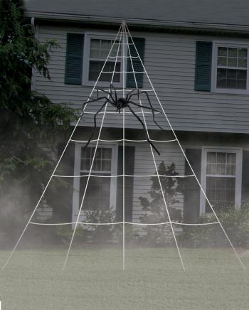 Giant Spider Web Außendekoration 5x7 Meter