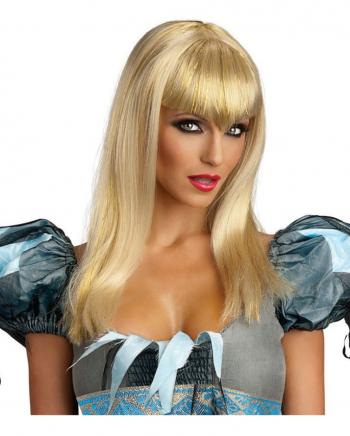 Blonde Glitter Vamp Perücke