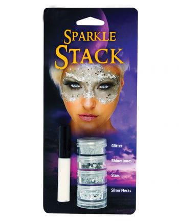 Glitter Stack Silber