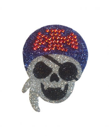 Glitter Tattoo Pirate Skull eye patch