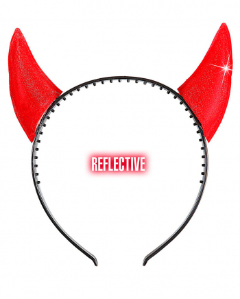 Glittering Devil Horns Hairband Red