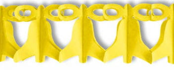 Glocken Girlande Gelb