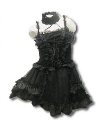 Black mini dress with white dots Gr. S / M