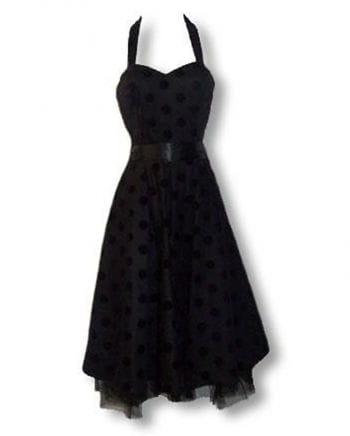 schwarz violettes Polka Dot Kleid XL