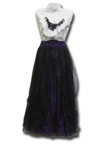 Gothic purple tulle skirt